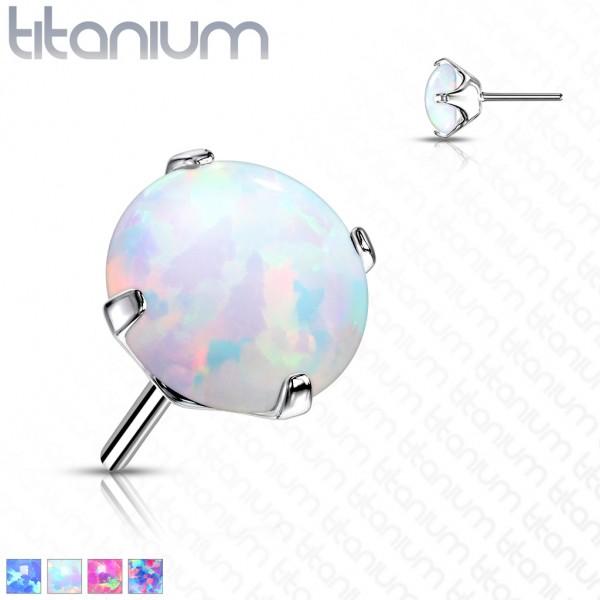Implant Grade Titanium Threadless Push In Opal Prong Set Tops