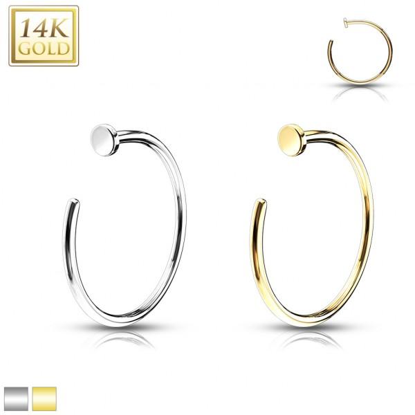 14kt Gold Nose Hoop